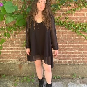 Boho Black High-Low Dress